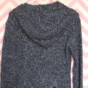 Derek Heart Sweaters - Derek Heart Blue Marled Hooded Sweater Size M